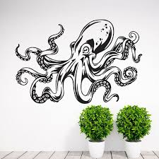 Octopus Tentacle Wall Decal Art Decor Sticker Octopus Wall Decal Octopus Art Octopus Decal Octopus Wall Art Tentacle Wall Decal Kraken Decal Wish