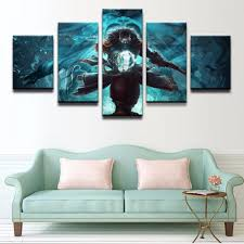 Wall Art Game Poster 5 Panel Dota 2 Kunkka Pirate Ship Sword Home Artwork Canvas Print Painting On With Free Shipping Worldwide Weposters Com