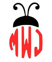 Lady Bug Ladybug Monogram Decal Monogram Decal Cricut Monogram Monogram Vinyl Decal