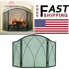pleasant hearth fireplace screen arched