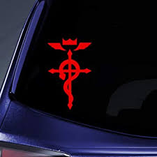 Amazon Com Bargain Max Decals Full Metal Anime Sticker Decal Notebook Car Laptop 6 Red Automotive