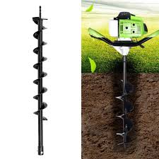 Garden Hand Tools Equipment Manual Steel Garden Fence Ground Earth Post Hole Drill Digger Auger With Handle Restaurantecarlini Com Br