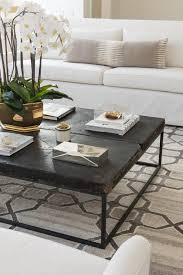 black distressed coffee table