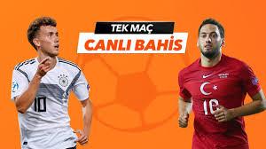 Almanya – Türkiye maçı Tek Maç ve Canlı Bahis seçenekleriyle Misli.com'da
