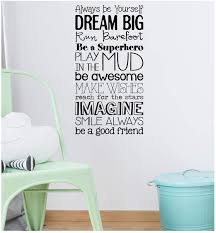 Led By Dreams Wall Decal Quote Vinyl Wall Sticker Art