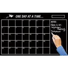 Removable Adhesive Monthly Calendar Chalkboard Wall Decal Sticker Peachy Keen Living