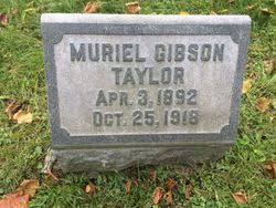 """Muriel """"Merle"""" Gibson Taylor (1892-1918) - Find A Grave Memorial"""