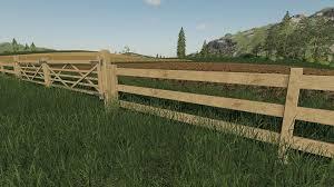 Wooden Gates Fences And Stone Walls V1 0 0 0 Mod Farming Simulator 2019 19 Mod