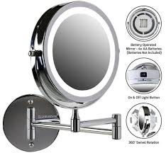 wall mounted led lighted magnifying