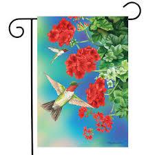fl spring garden flag geraniums