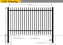Black Security Steel Fence