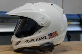 Helmet Graphics Kit Custom Your Name With Usa Flag The Pixel Hut