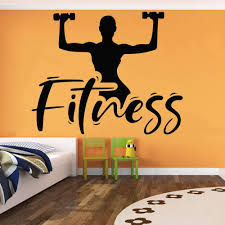 Fitness Girl Wall Decals Gym Decor Body Training Center Sport Stickers Vinyl Creative Wall Murals Living Room Home Decor Wall Art And Stickers Wall Art Applique From Joystickers 12 66 Dhgate Com