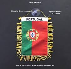 Amazon Com Prk 14 Portugal Flags For Car Home Mini Banner Automobile Charm Small Window Sticker Easy To Use Sticks To Glass Quick Easy Or Hang Portuguese Ornament Wall Design Indoor Outdoor
