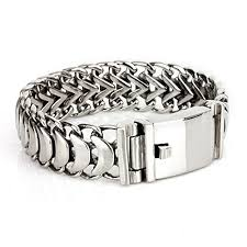 Felix Perry Men's Heavy Chain Link Bracelet Stainless Steel Silver Polished  8.66 Inch - Buy Online in Cambodia. | felix perry Products in Cambodia -  See Prices, Reviews and Free Delivery over 27,000 ៛ | Desertcart