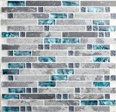 blue shell tile glass mosaic