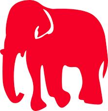 Republican Elephant Clipart Free - Clip Art Bay