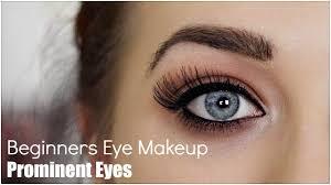 beginner eye makeup for prominent eye