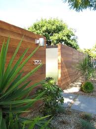 My Houzz 1950s Rebound For A Cliff May House Modern Fence Design Fence Design Backyard Fences