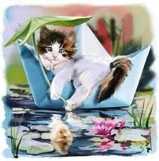 Cute Cat Kids Room Animal Pattern Diamond Painting Kit