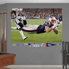 Rob Gronkowski Diving Touchdown In Your Face Mural Nfl New England Patriots New England Patriots New England