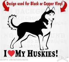 Love My Huskies Siberian Husky Dog Decals Stickers Nickerstickers