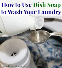 how to use dish soap to wash your laundry