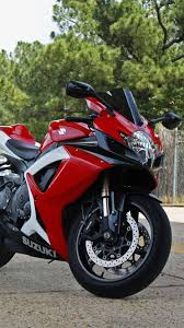 red suzuki motorcycle android wallpaper
