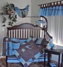 moon and stars soho baby blue nursery