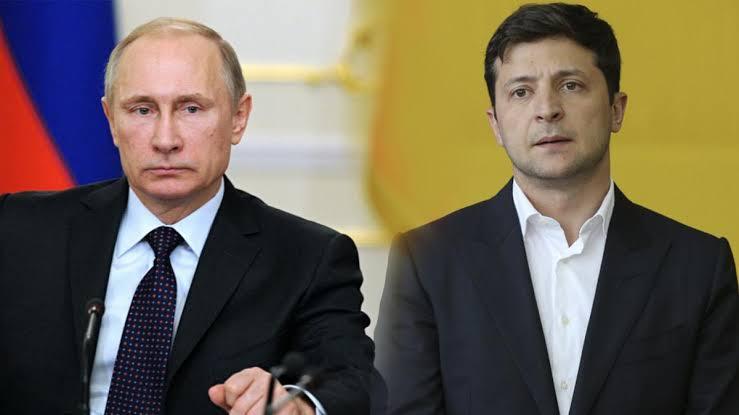 "Image result for Images of Putin and Zelensky"""