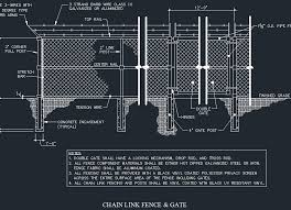 Chain Link Fence Gate Details Cad Files Dwg Files Plans And Details