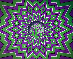 hd wallpaper green purple and white