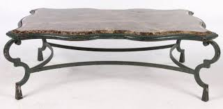 large wrought iron coffee table marble
