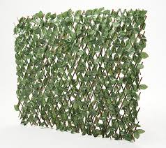 Wicker Park Single Expandable Faux Ivy Privacy Fence Qvc Com In 2020 Privacy Fence Ivy Plants Fence