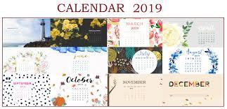 free 2019 hd calendar wallpapers