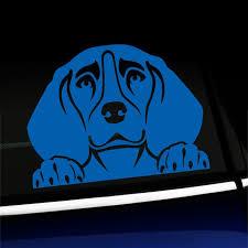Peeking Beagle Vinyl Car Decal Choose Color Azure Blue Walmart Com Walmart Com