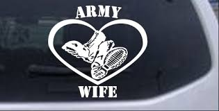 Army Wife Combat Boots Heart Car Or Truck Window Decal Sticker Rad Dezigns