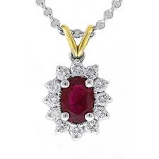 18kt white and yellow gold ruby diamond