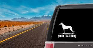 Greyhound Silhouette Vinyl Decal Sticker Custom Gifts Etc