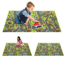 roadway play mat for kids cool road