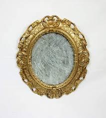 vintage baroque mirror gold frame oval