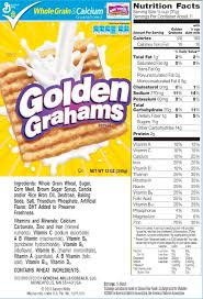 printable cereal nutrition labels