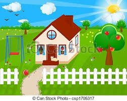 House With White Picket Fence Clipart White Picket Fence House Clipart