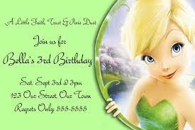 Tinkerbell Birthday Party Invitations Printable Free Invitetown