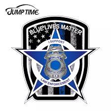 Jumptime 13cm X 13cm For Blue Lives Matter Police American Flag Car Truck Window Decal Vinyl Sticker Waterproof Car Accessories Car Stickers Aliexpress