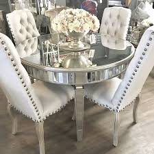 round dining table with champagne gold