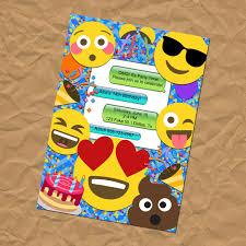 Invitacion De Fiesta De Cumpleanos Emoji Cumpleanos Emoji