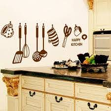 Amazon Com Photno Diy Removable Happy Kitchen Wall Decal Vinyl Home Decor Wall Stickers New Kitchen Dining