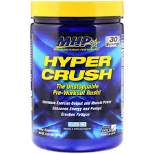 mhp hyper crush pre workout blue ice