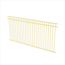 Protector Aluminium 2450 X 1200mm Double Top Rail All Up Ulti M8 Fence Panel Primrose